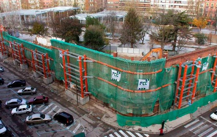estabilización de fachadas, INCYE Proveedores de estructuras auxiliares2