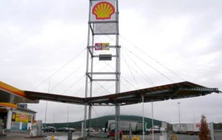 modular structure tower and canopy for gas station