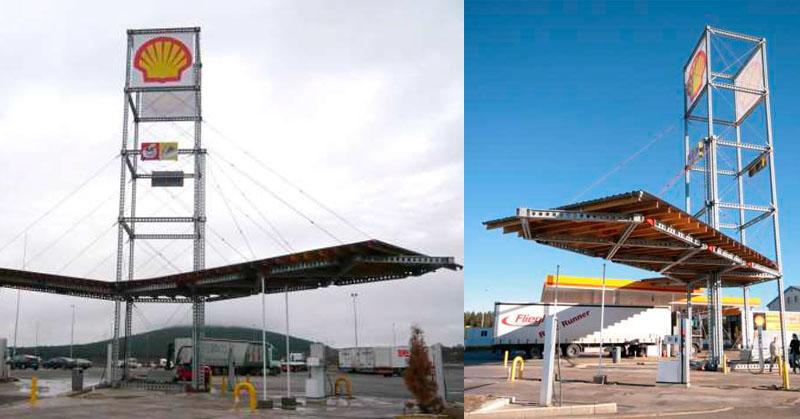 construcción modular gasolinera