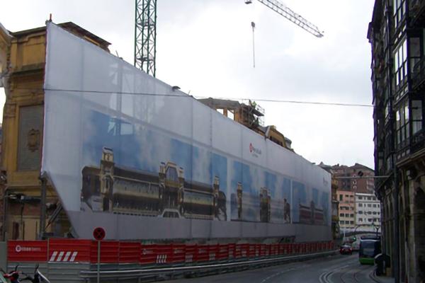 lonas de publicidad en fachadas